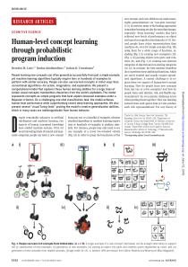 Human-level concept learning through probabilistic program induction